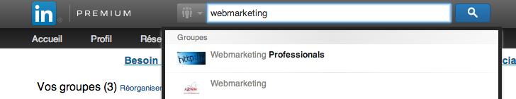 Rejoindre des groupes sur LinkedIn Capture d'écran linked 4