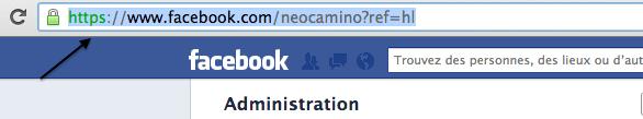 Récupérer son adresse de page ou de profil sur les réseaux sociaux Capture d'écran FCBK 3