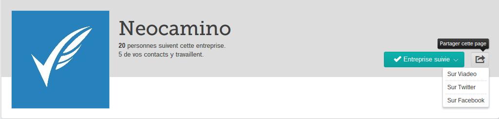 Demander à des contacts de suivre sa page Viadeo partage