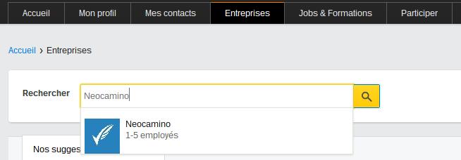 Demander à des contacts de suivre sa page Viadeo recherche