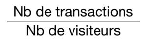Calcul du taux de transformation : Formule et Exemples 0 300x86