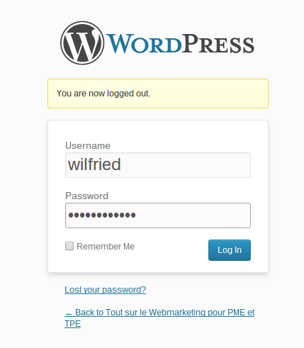 Comment écrire un article de blog sur WordPress ? Indentifiant