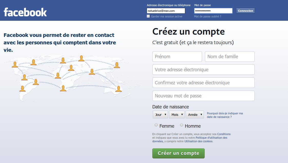 Connexion Facebook en tant que page fan ou profil