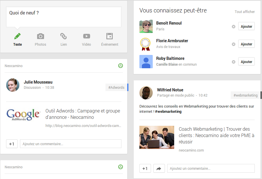 Comment poster sur Google plus une page de son site internet en 4 étapes Screenshot 2013 11 15 at 11.19.59