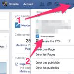 Interagir en tant que page Facebook