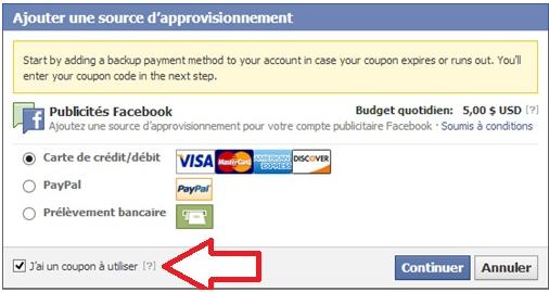 Comment utiliser un coupon de publicité Facebook en 7 étapes Screenshot 2014 01 17 at 11.34.53