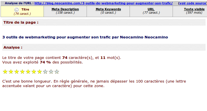 3 outils en ligne pour faire son audit seo Screenshot 2014 01 23 at 12 modif