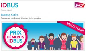 Exemple de mailing impactant : SNCF iDBUS IDBUS La bannière 300x177