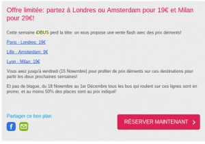 Exemple de mailing impactant : SNCF iDBUS IdBus Le Message 300x210