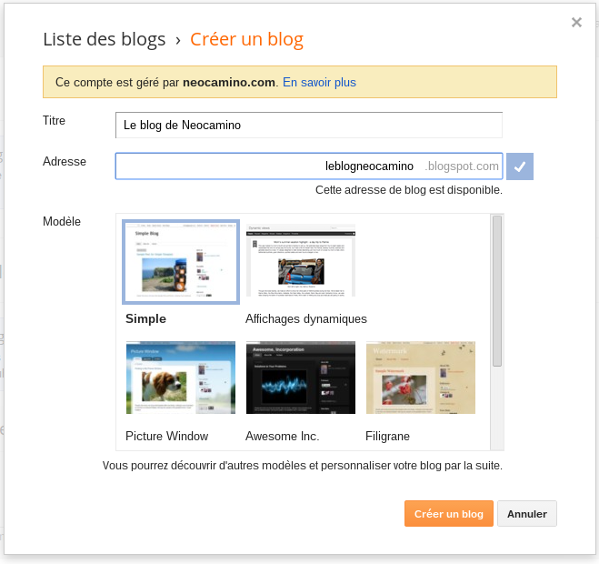 comment creer categories blogger