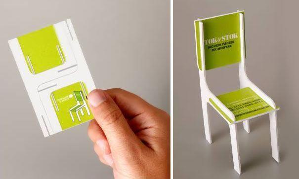 5 formats de carte de visite qui appelle à l'action ! chaise