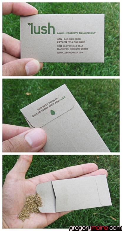 5 formats de carte de visite qui appelle à l'action ! herbe