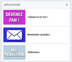 Optimiser sa page Facebook pour séduire ses prospects! onglets