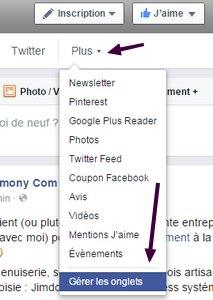 Optimiser sa page Facebook pour séduire ses prospects! onglets1