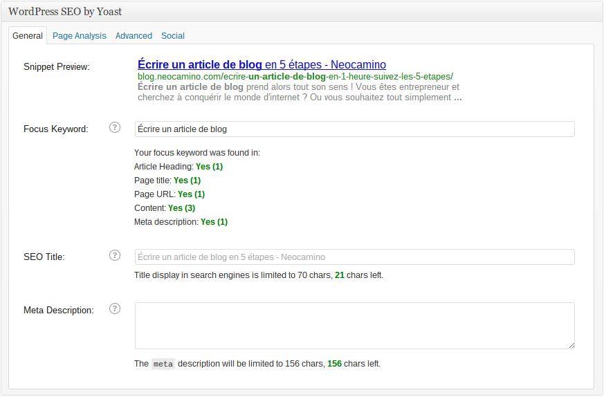 Comment écrire un article de blog sur WordPress ? SEO