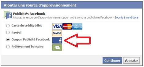 Comment utiliser un coupon de publicité Facebook en 7 étapes Screenshot 2014 01 17 at 11.35.40