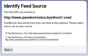 Créer un flux RSS pour son blog avec Feedburner FeedburnerEtape2 300x191