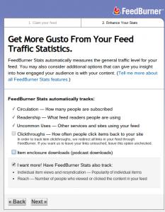 Créer un flux RSS pour son blog avec Feedburner FeedburnerEtape5 233x300
