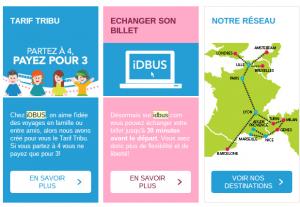 Exemple de mailing impactant : SNCF iDBUS IDBUS Les infos complémentaires 1 300x207