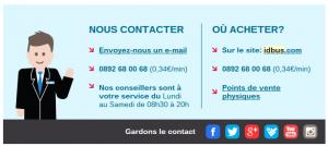 Exemple de mailing impactant : SNCF iDBUS IDBUS Social Media 300x134