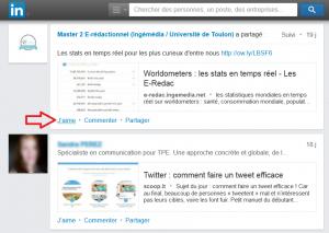 Comment aimer une publication Linkedin pour votre visibilité ! aimer publication linkedin 3 300x213