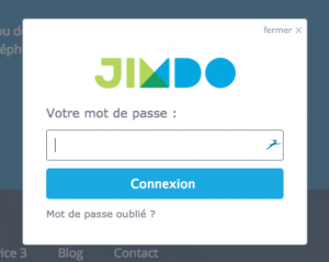 Changer title d'une page d'un site internet Jimdo