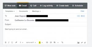 hubspot sales : envoi d'email